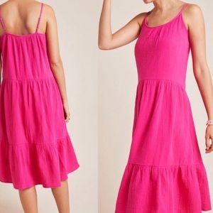 NWT $98 Anthropologie Pink Karin Gauze Dress S